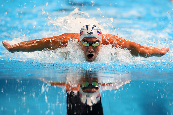 OMAHA, NE - JULY 02: Michael Phelps of the United States competes in the final heat for the Men's 100 Meter Butterfly during Day Seven of the 2016 U.S. Olympic Team Swimming Trials at CenturyLink Center on July 2, 2016 in Omaha, Nebraska. (Photo by Tom Pennington/Getty Images)