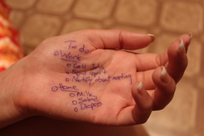 checklist hand photo